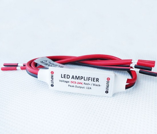 Mini led amplifier ( led strip light 5050 3528 single colour controll adapter)